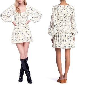 NWT Free People Two Faces Print Mini Dress
